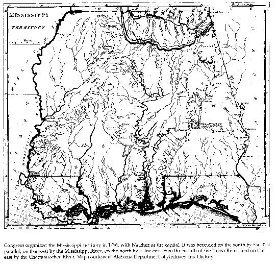 1798 Map Of Ms Territory