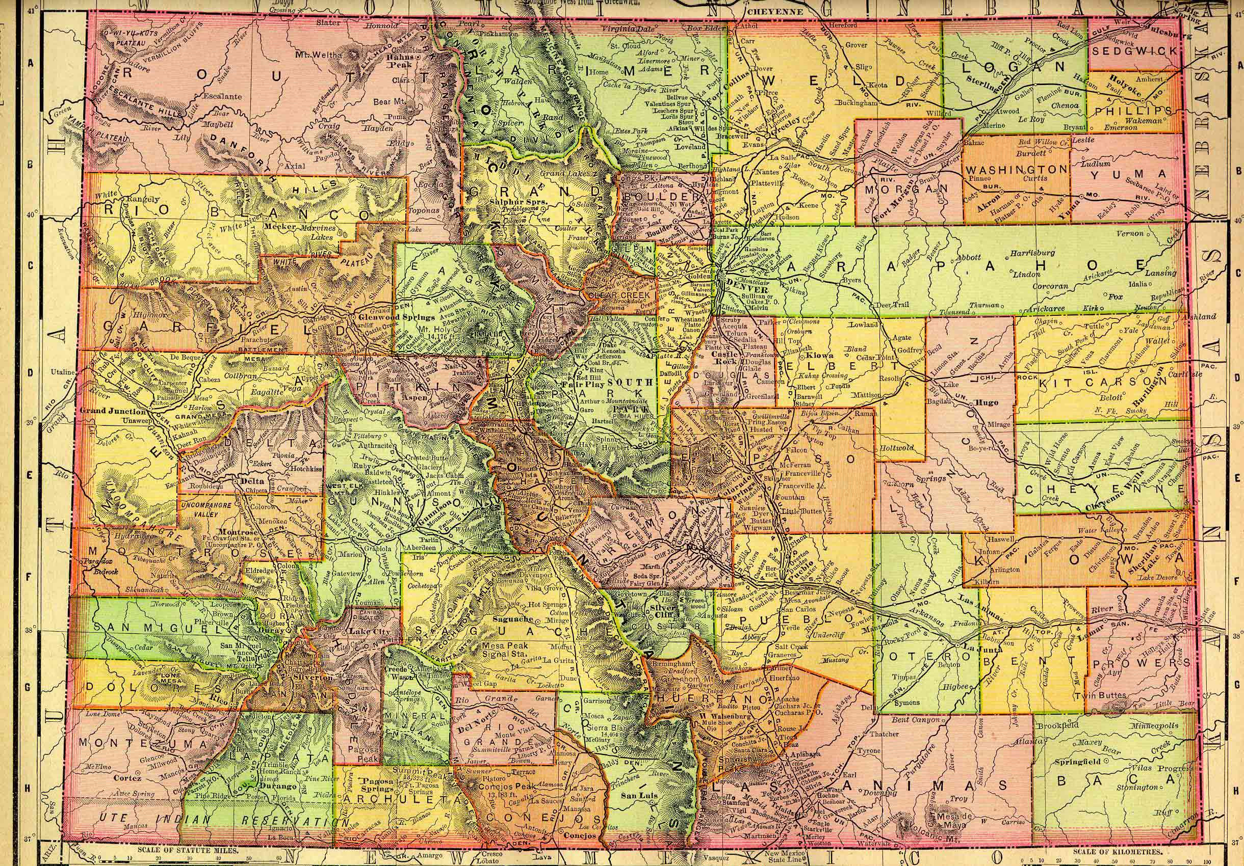Ouray County CO GenWeb Project Maps - Colorado state road map