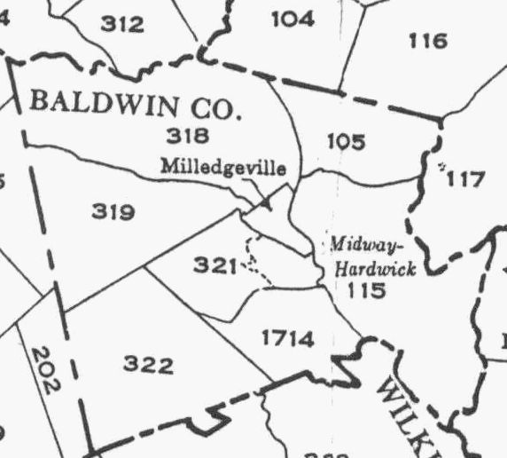 Baldwin County Ga Militia District Map - Georgia map milledgeville