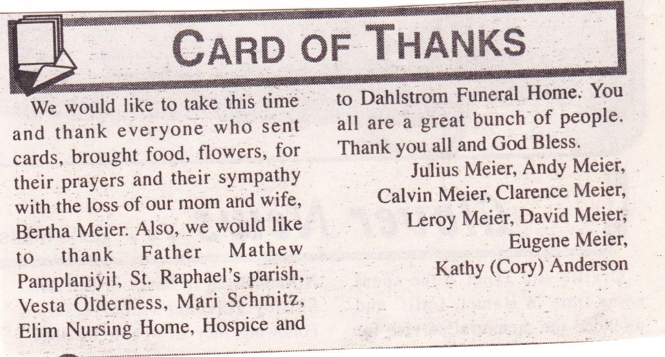 Dickey County NDGenWeb- Obituaries
