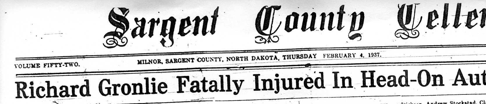 Sargent County North Dakota GenWeb- Obituaries